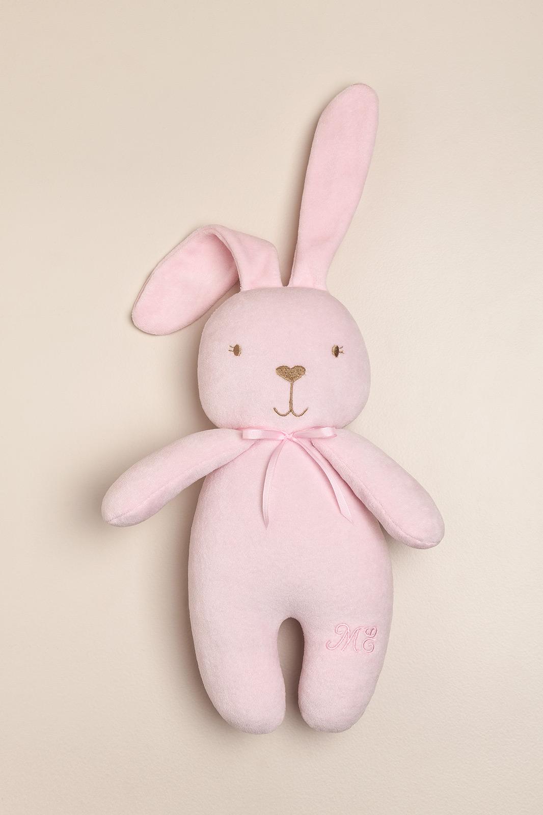 Conejo de peluche grande rosa