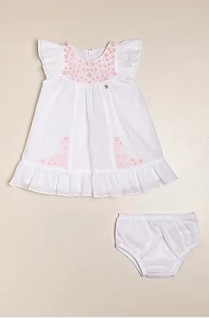 Vestido Rosetta bl/rosa