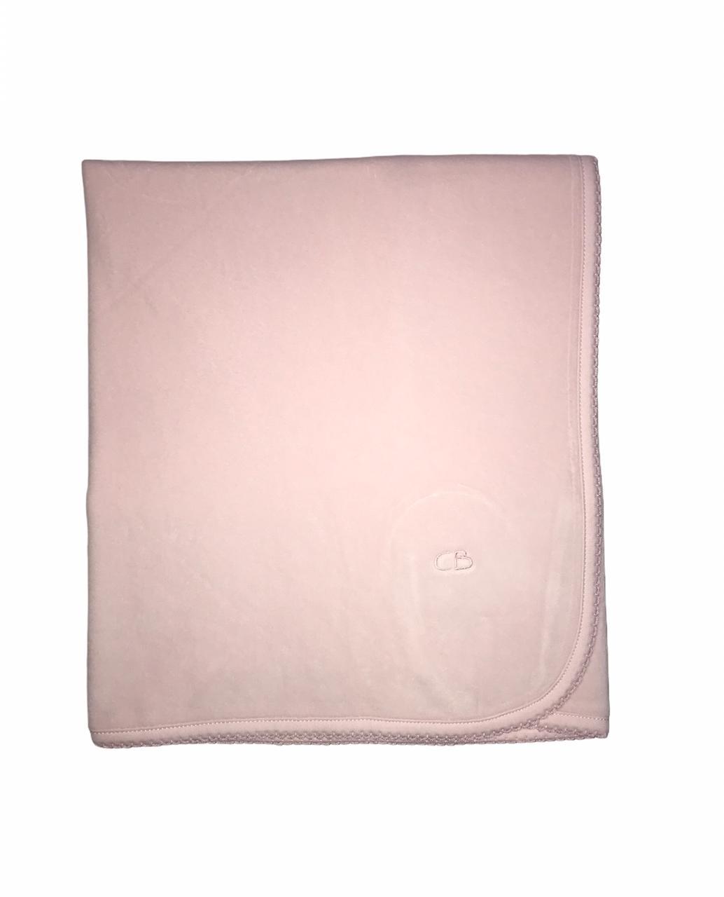 Manta basica plush rosa