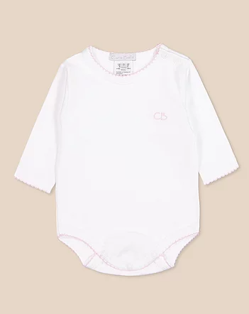 Body basico blanco/rosa