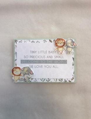 Tarjeta tini little baby