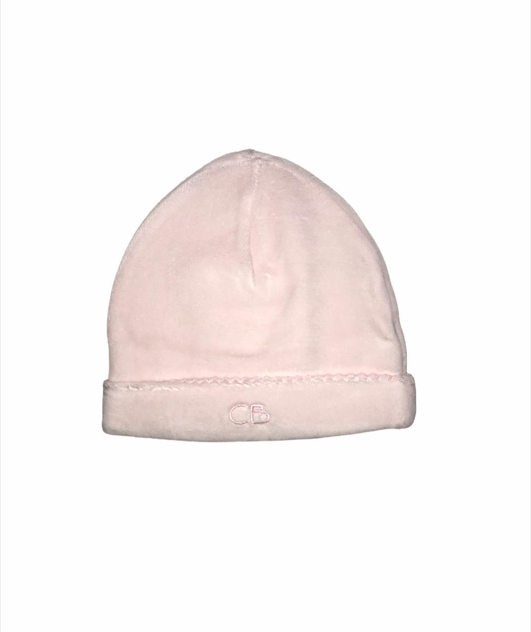 Gorro basico plush rosa