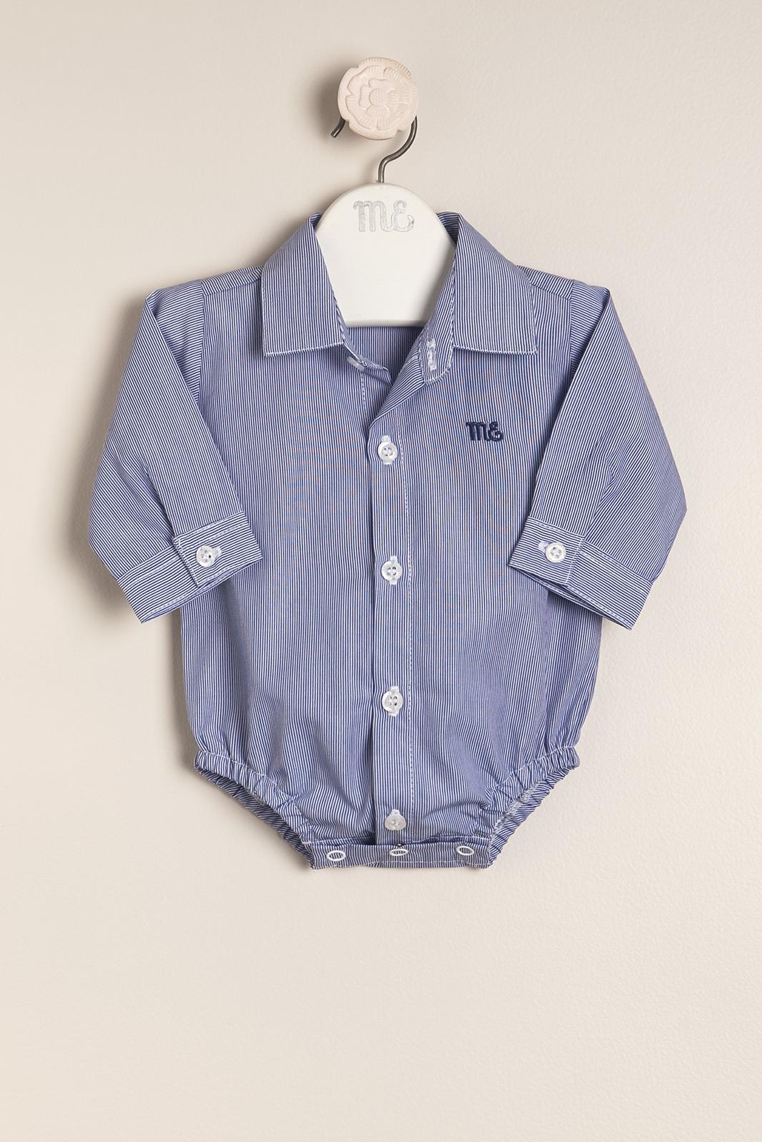 Body camisa Andre bco/azul