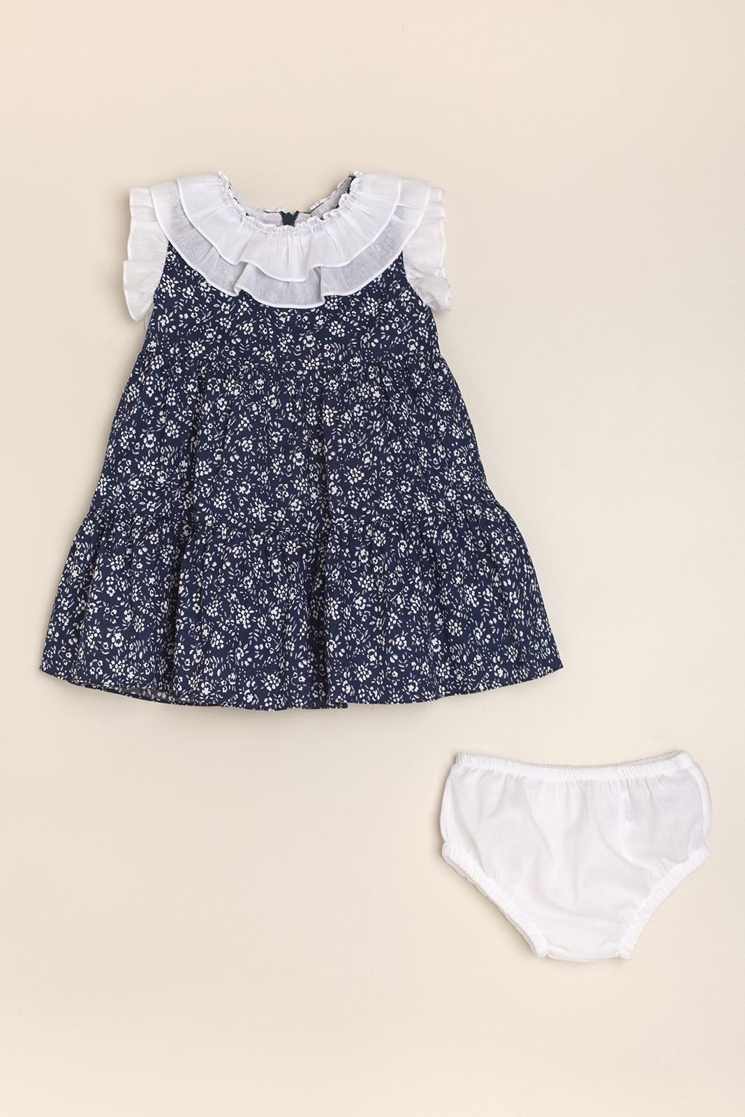 Vestido bianco e blu