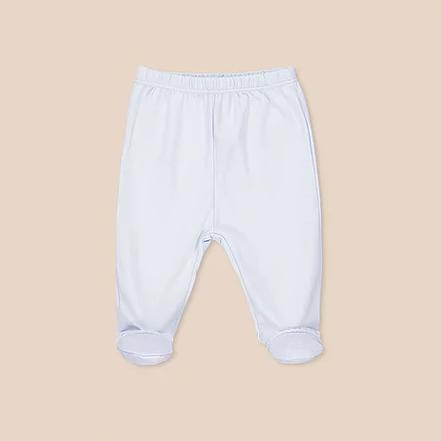 Pantalon basico con pie celeste