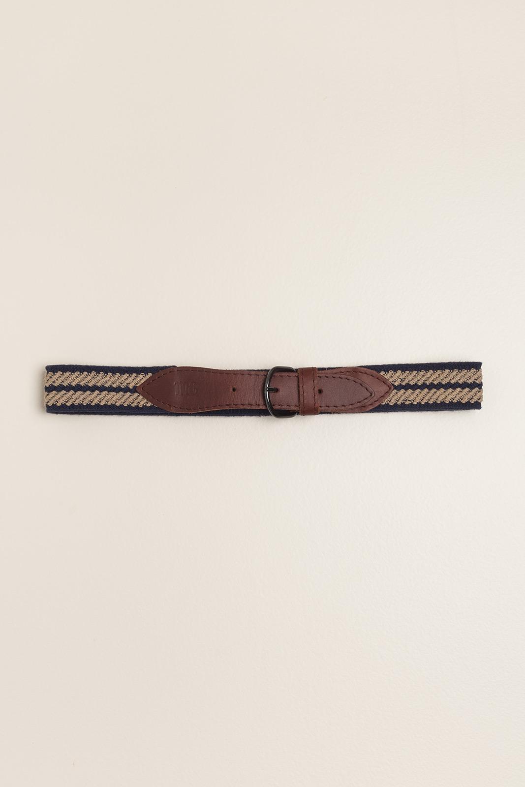 Cinturon elastizado ancho Azul/Camel