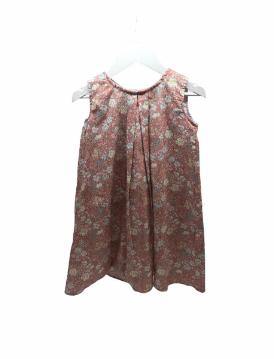 Vestido Luciana s/ manga estamp. rosa