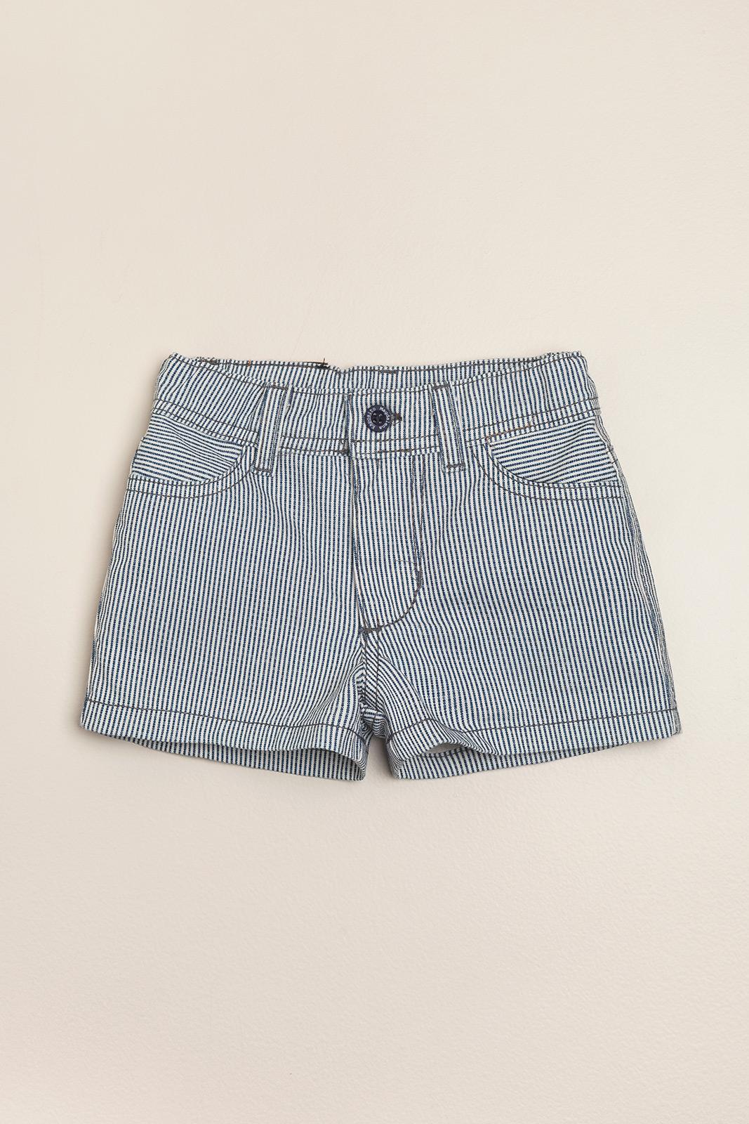 Short rayado lavado