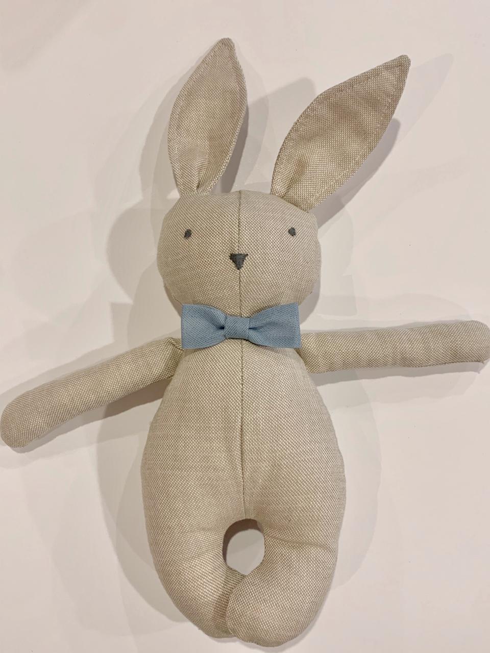 Mini conejo corbata azul