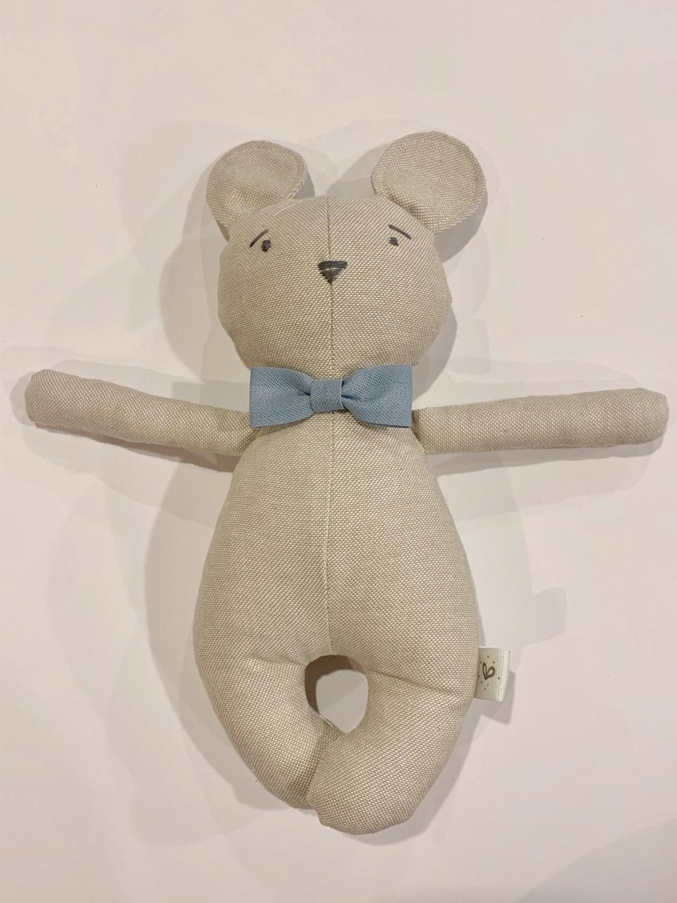 Mini oso corbata azul