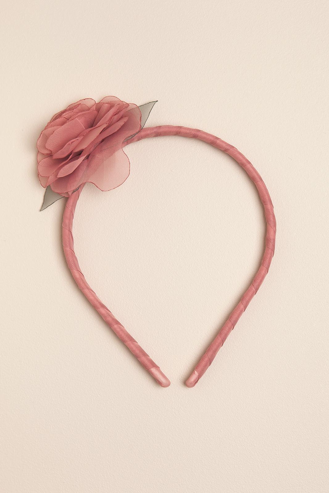 Vicha rigida con una flor rosa romantic