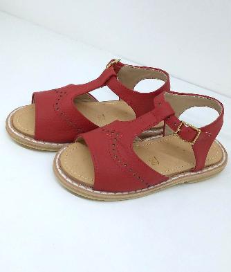 Sandalia puntito rojo
