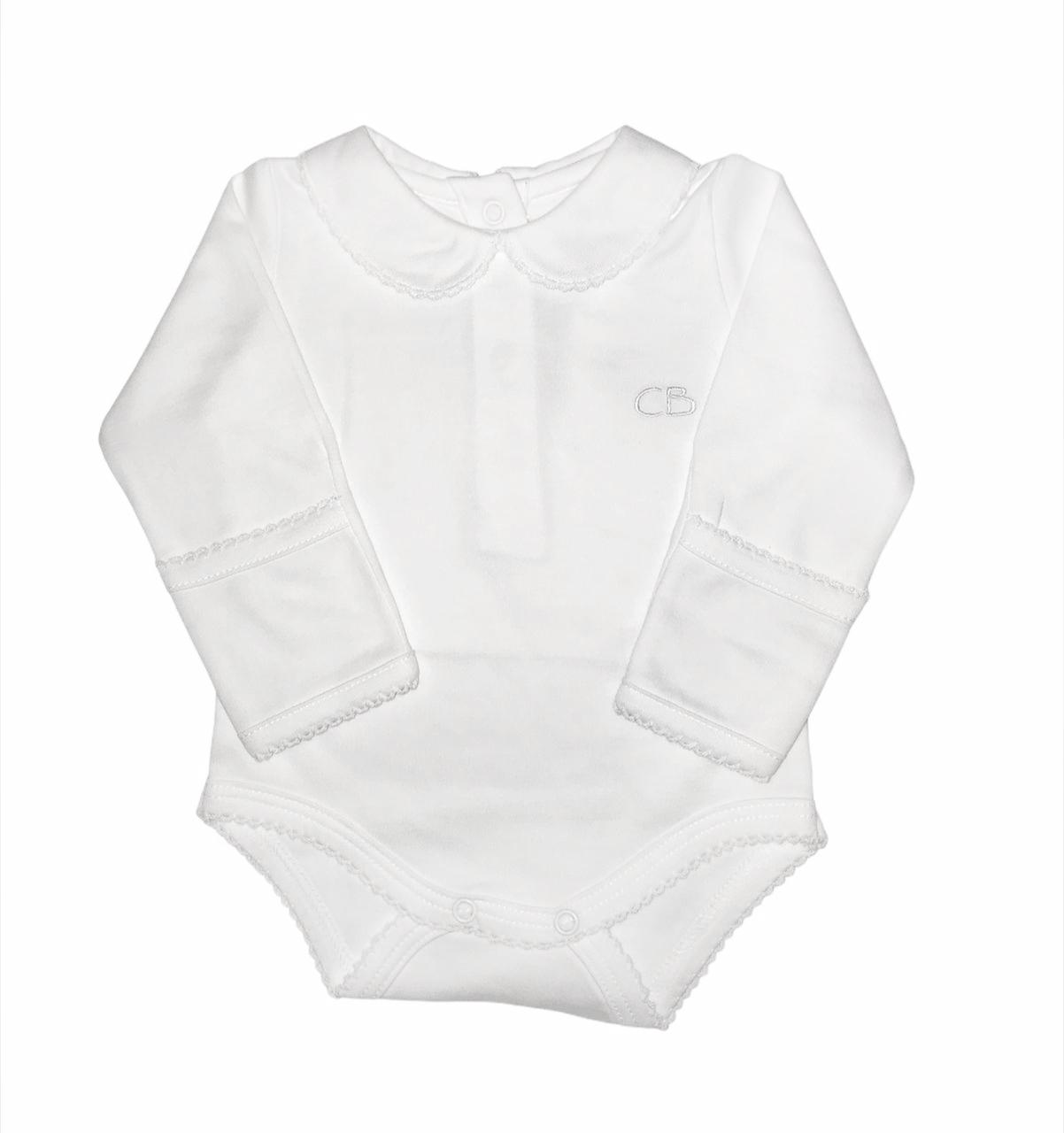 Body cuello bebe ml blanco