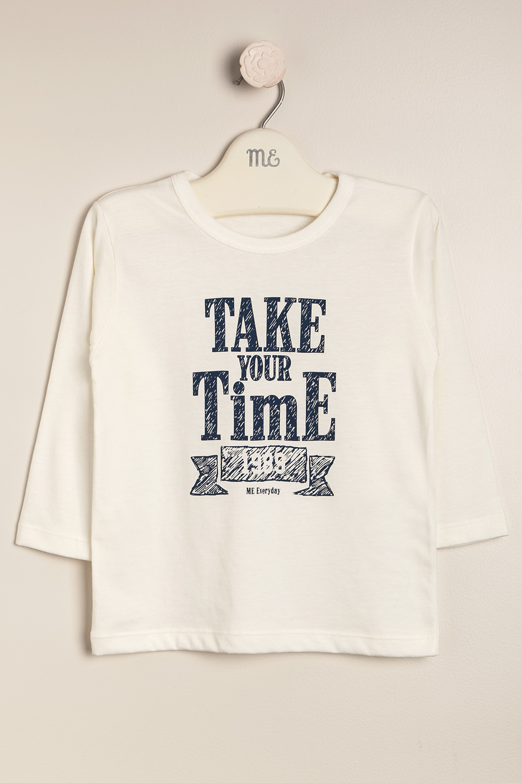 Remera take your time crudo