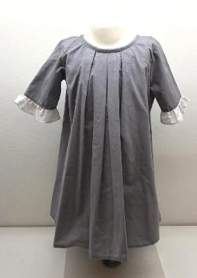 Vestido luciana con manga vol. gris