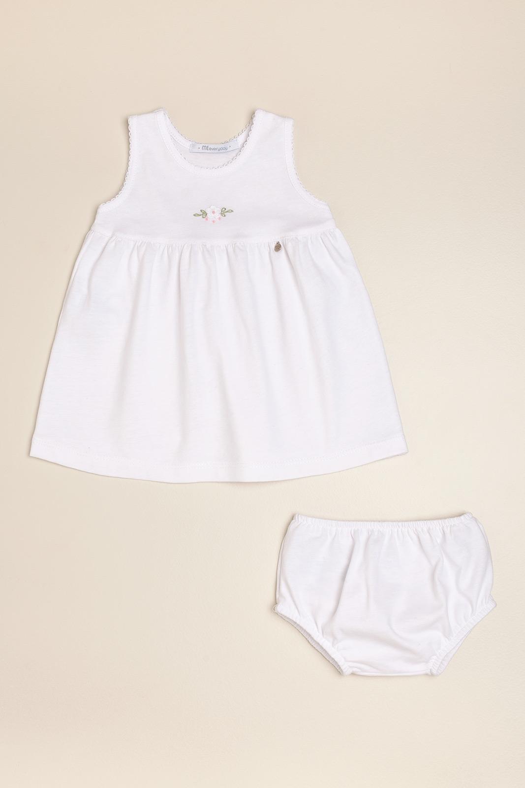 Vestido bord poline blanco