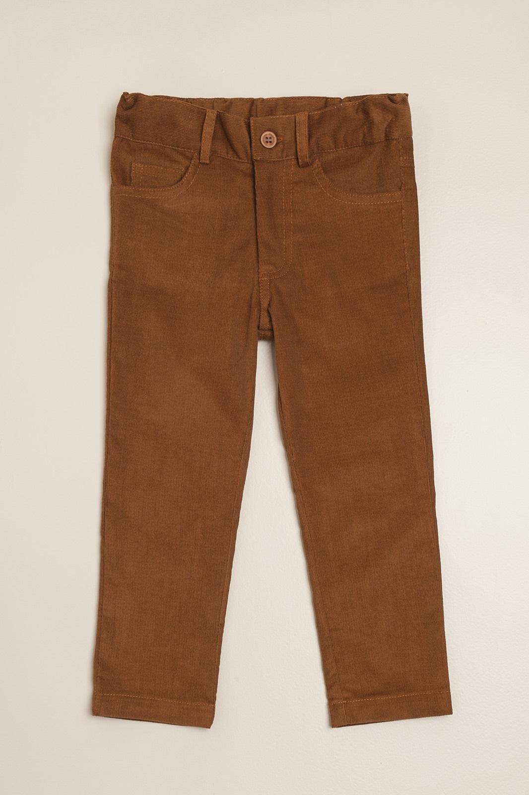 Pantalon de corderoy tostado