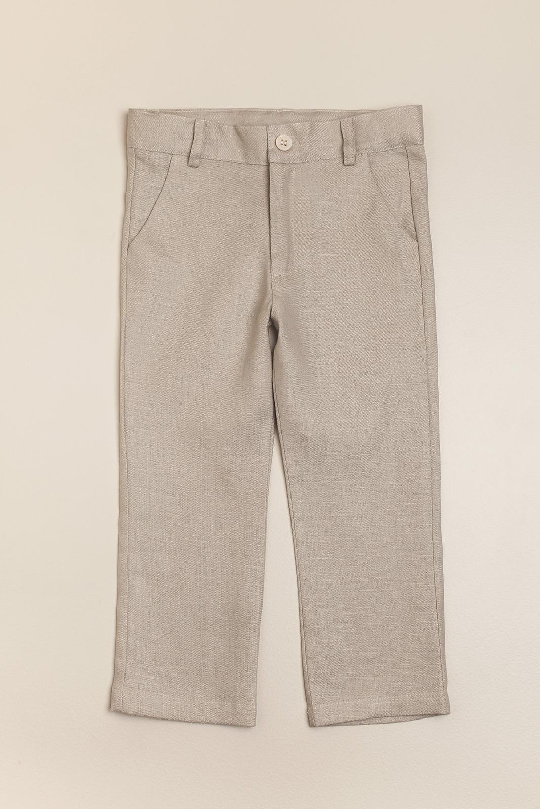 Pantalon de lino arena