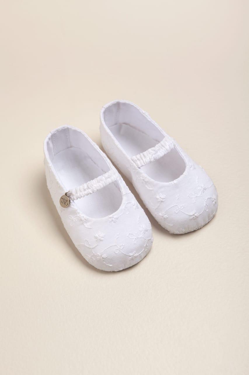 Balerina de broderie blanca
