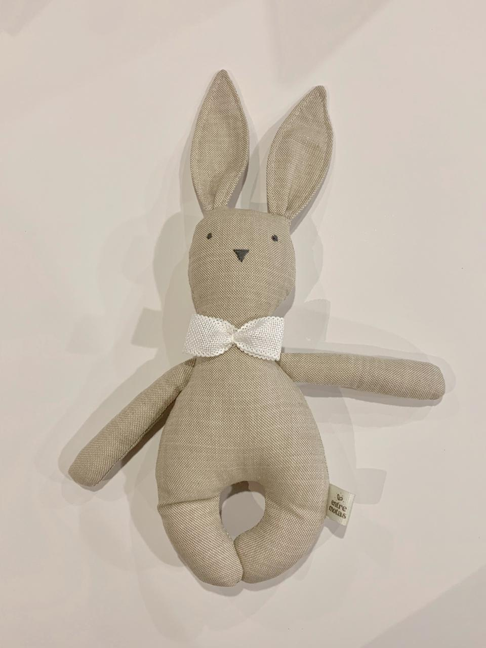 Mini conejo corbata blanco
