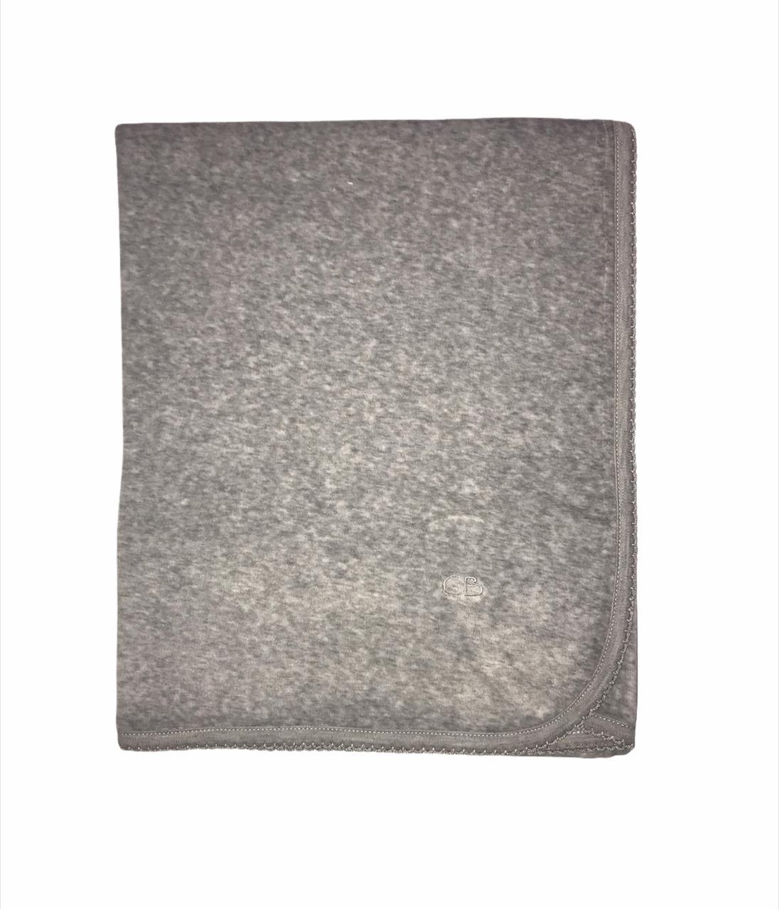 Manta basica plush gris
